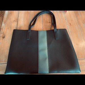 Black with Gray stripe Vince Camuto small tote